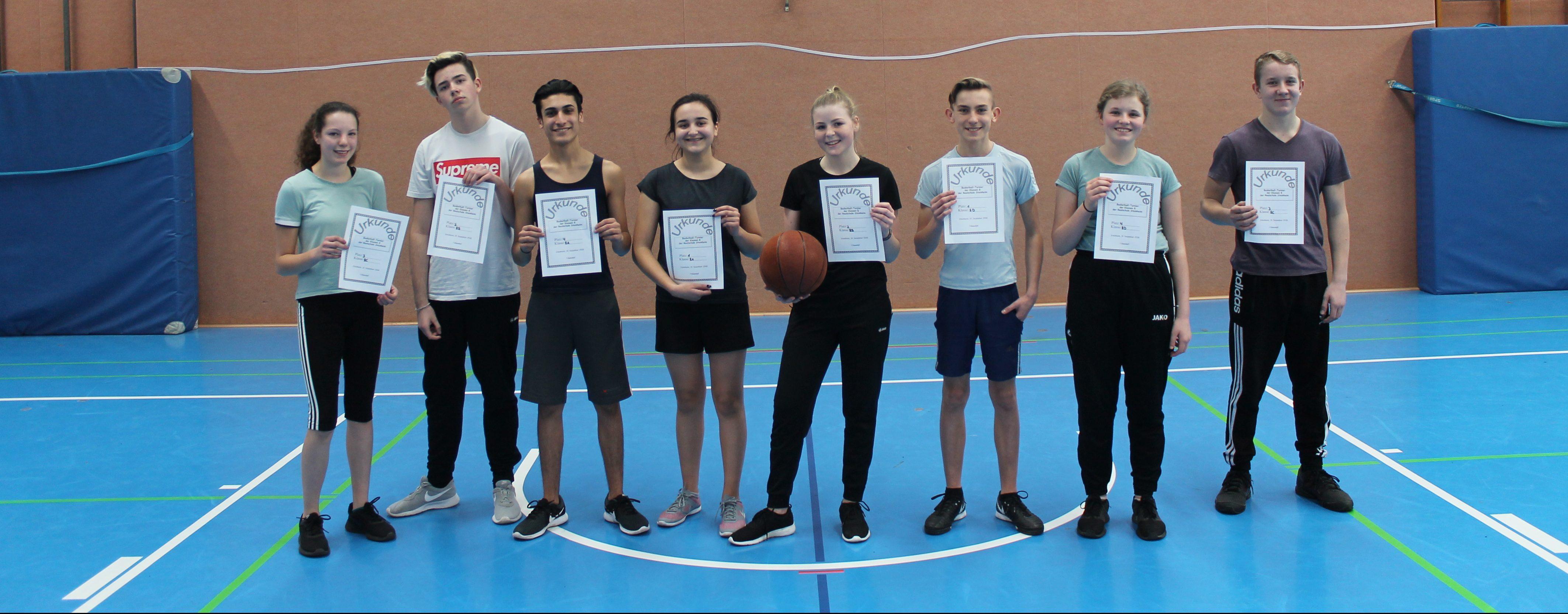 Basketballturnier von Jahrgangsstufe 7 und 8